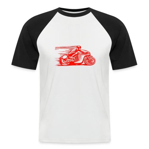 Caffeine & Gasoline white text - Men's Baseball T-Shirt