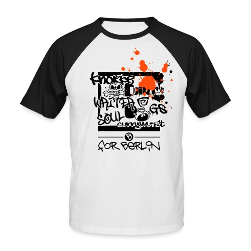 B for Berlin - Graffiti - Männer Baseball-T-Shirt