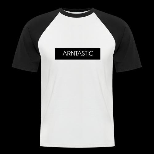 ARNTASTIC balken schwarz - Männer Baseball-T-Shirt