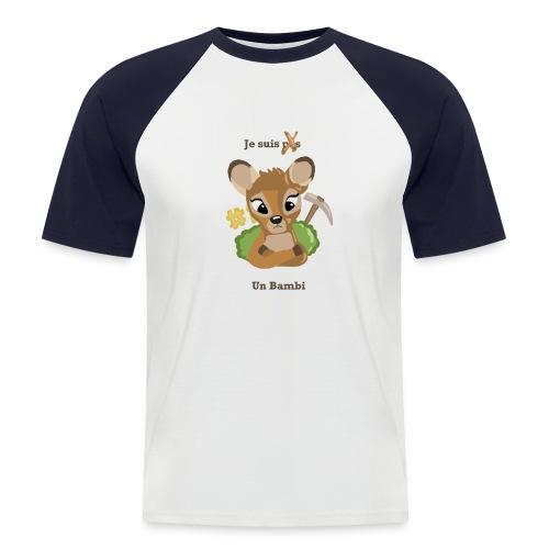 Je suis un bambi - T-shirt baseball manches courtes Homme