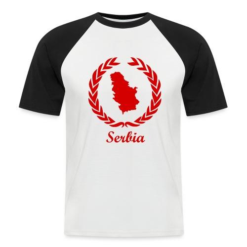 Connect ExYu Serbia Red Editon - Männer Baseball-T-Shirt
