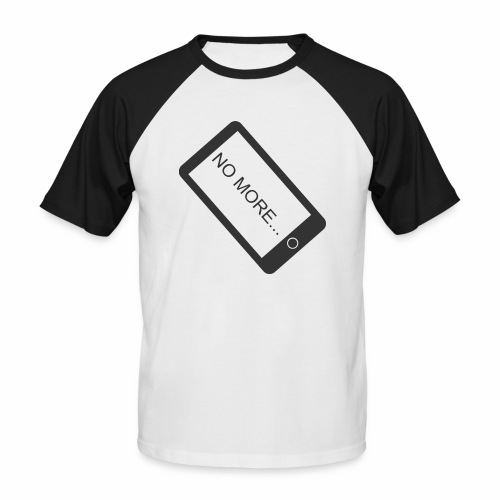 No More Smartphone - T-shirt baseball manches courtes Homme
