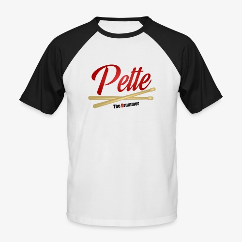 Pette the Drummer - Men's Baseball T-Shirt