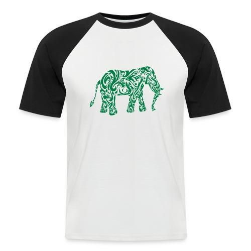 Tribal Eléphant - T-shirt baseball manches courtes Homme
