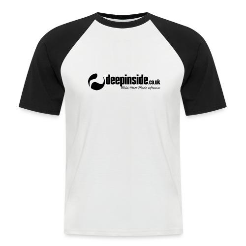 DEEPINSIDE World Reference logo black - Men's Baseball T-Shirt
