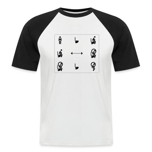 How to squat - Men's Baseball T-Shirt