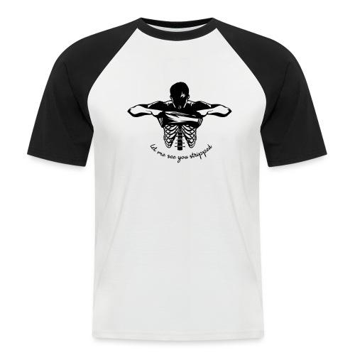 DM stripped - Männer Baseball-T-Shirt