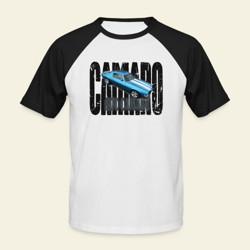 70 Camaro - Kortærmet herre-baseballshirt