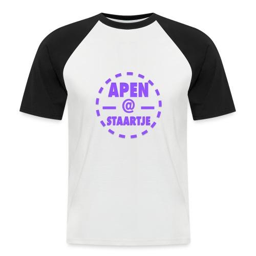 Apenstaartje merchandise 3 png - Mannen baseballshirt korte mouw