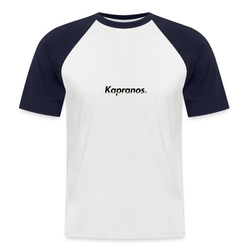 Kapranos Brand (Black / Camo) - Men's Baseball T-Shirt