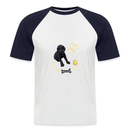Giant Schnauzer puppy - Men's Baseball T-Shirt