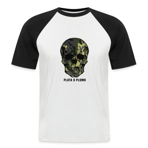 Colombian skull - plata o plomo - Männer Baseball-T-Shirt