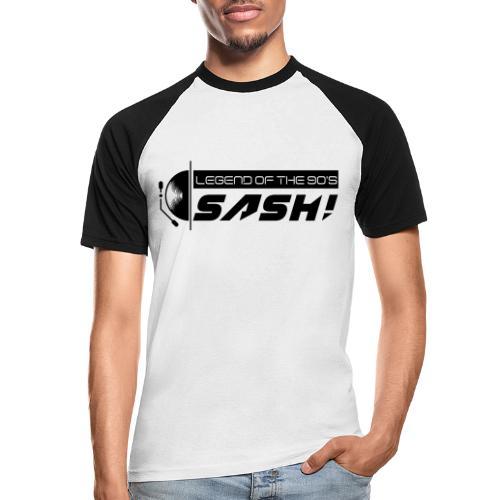 DJ SASH! Turntable Logo - Men's Baseball T-Shirt