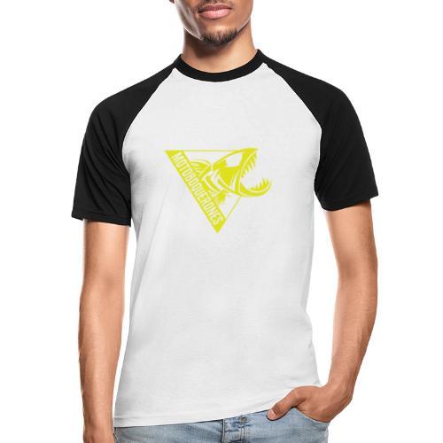 Logo Motoboquerones amarillo - Camiseta béisbol manga corta hombre