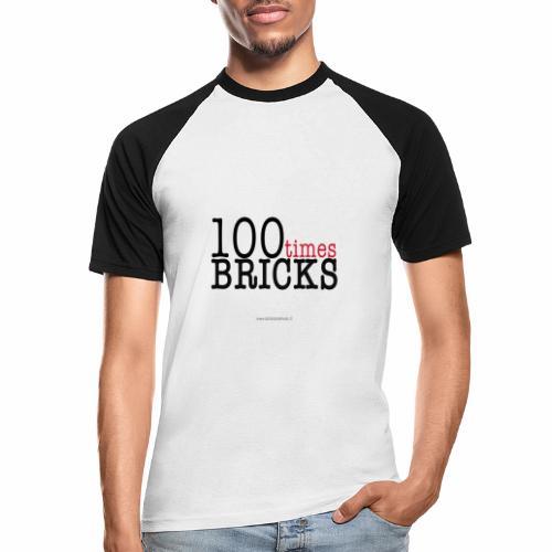 100times BRICKS - Maglia da baseball a manica corta da uomo