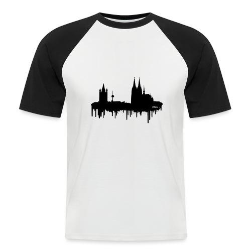 Skyline Köln - Schwarz - Männer Baseball-T-Shirt