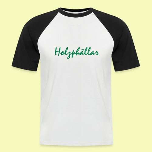 Schriftzug Grün - Männer Baseball-T-Shirt