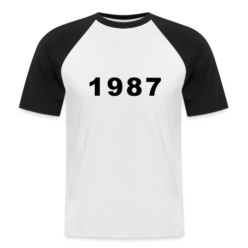 1987 - Mannen baseballshirt korte mouw