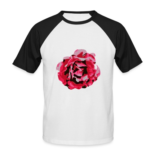 rose - Männer Baseball-T-Shirt