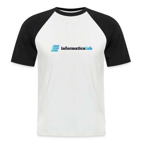 InformaticaLab logo for white background - Maglia da baseball a manica corta da uomo