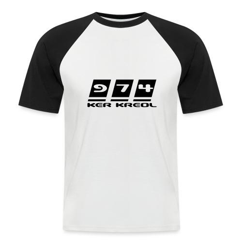 Ecriture 974 Ker Kreol - T-shirt baseball manches courtes Homme