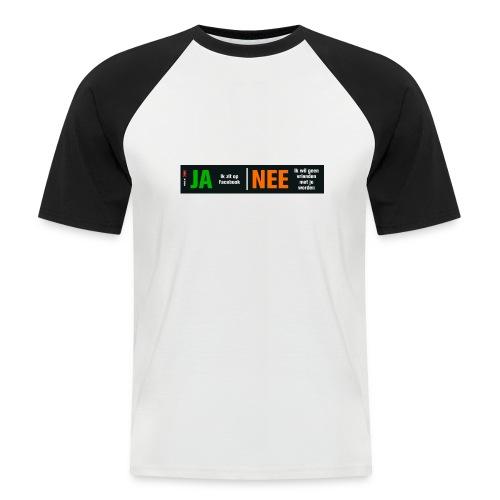 facebookvrienden - Mannen baseballshirt korte mouw