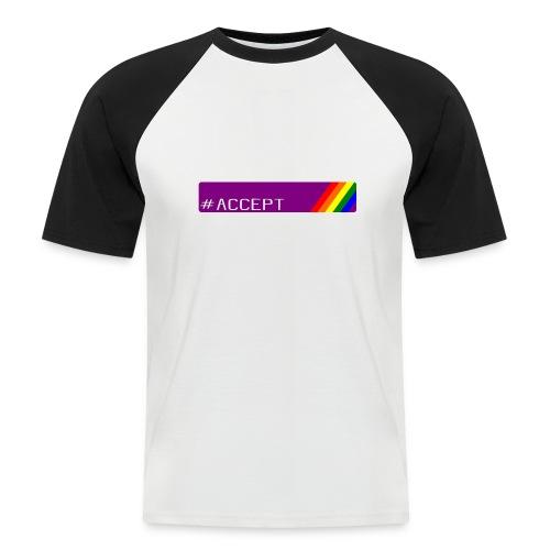 79 accept - Männer Baseball-T-Shirt