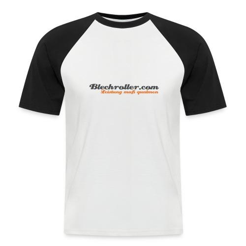 blechroller logo - Männer Baseball-T-Shirt