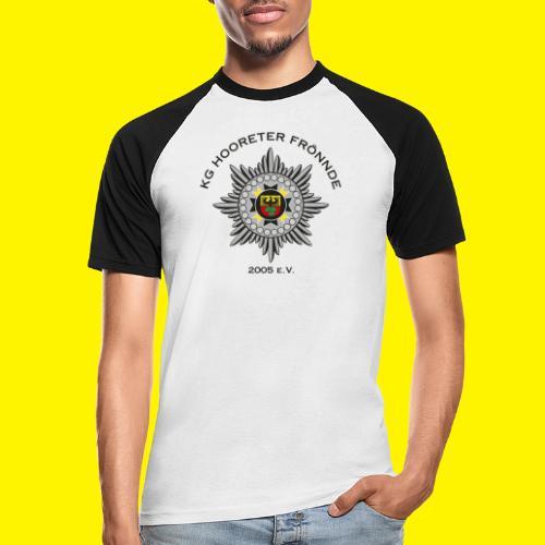 Schwarze Schrift - Männer Baseball-T-Shirt