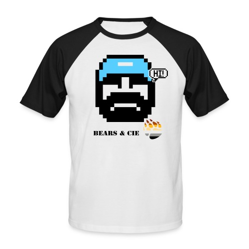 pixel art bears et compagnie blue bears - T-shirt baseball manches courtes Homme