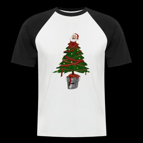 Messy Christmas - Mannen baseballshirt korte mouw