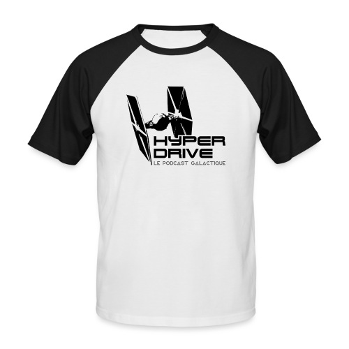 Hyperdrive - logo galactique - T-shirt baseball manches courtes Homme