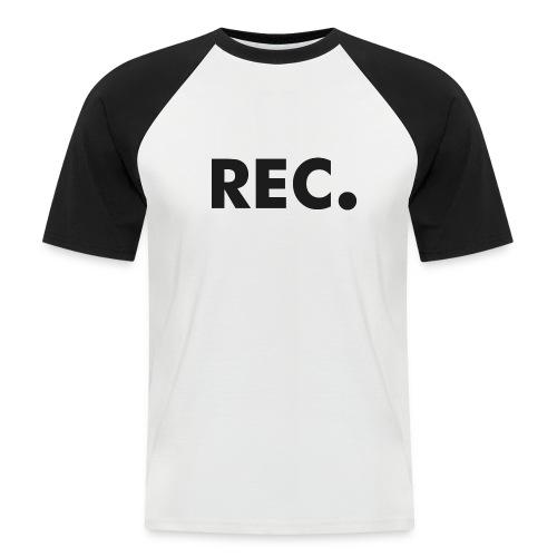 Rec zwart - Mannen baseballshirt korte mouw