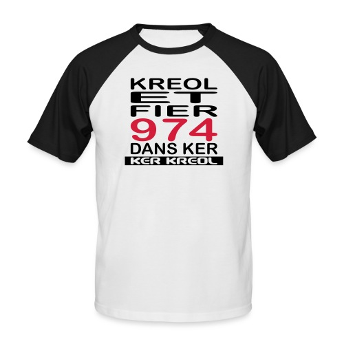Kreol et Fier dans Ker - T-shirt baseball manches courtes Homme