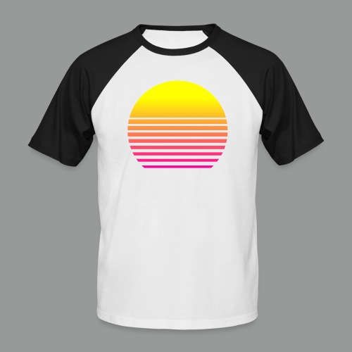 80s Sun - Männer Baseball-T-Shirt