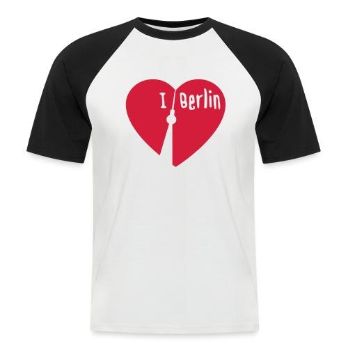 I love Berlin (1-farbig) - Männer Baseball-T-Shirt