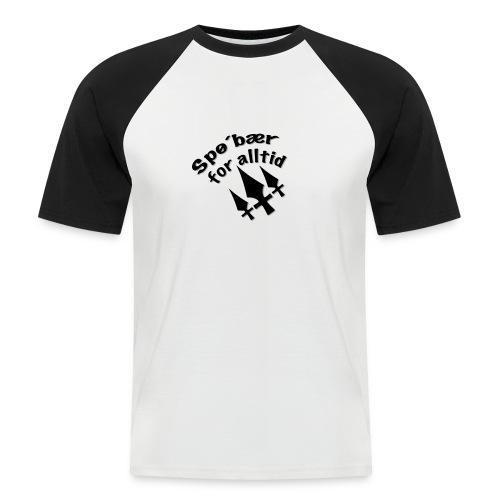 Spø´bær for alltid - Kortermet baseball skjorte for menn