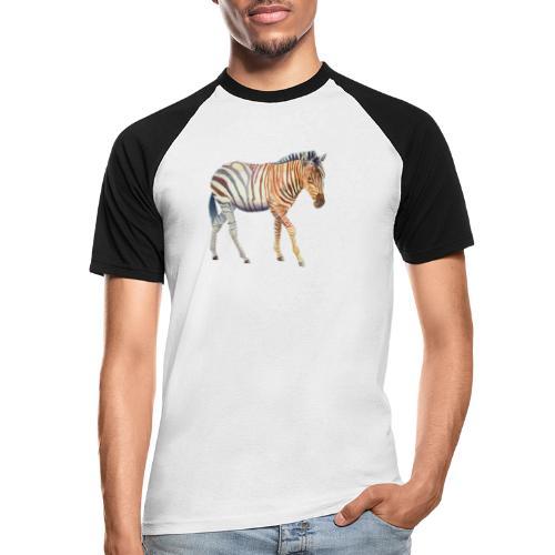 Zebra grants - Kortærmet herre-baseballshirt