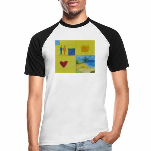 Viererwunsch - Männer Baseball-T-Shirt