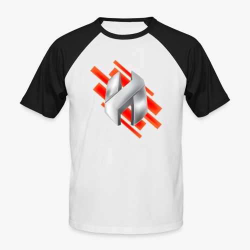 Abstract Red - Men's Baseball T-Shirt