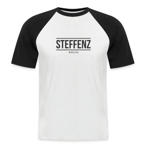 Black on Black - Männer Baseball-T-Shirt