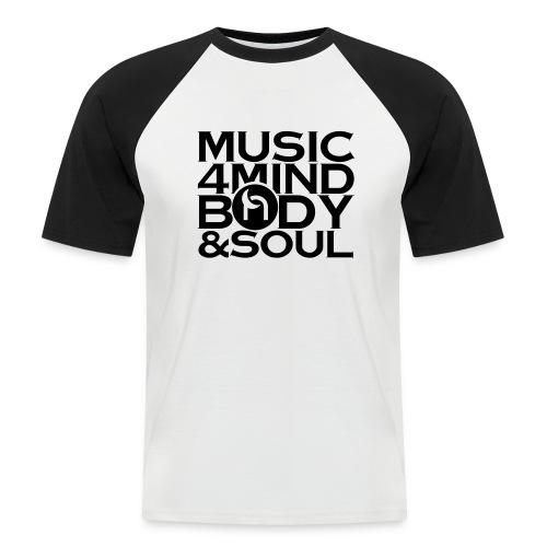 Music 4 Mind, Body & Soul Black - Men's Baseball T-Shirt