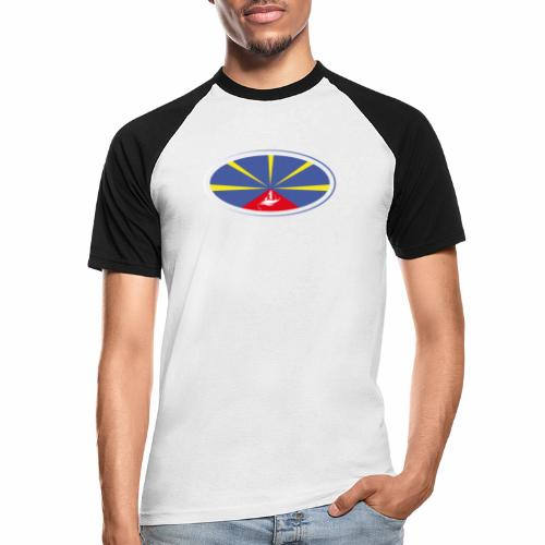 Paddle Reunion Flag - T-shirt baseball manches courtes Homme