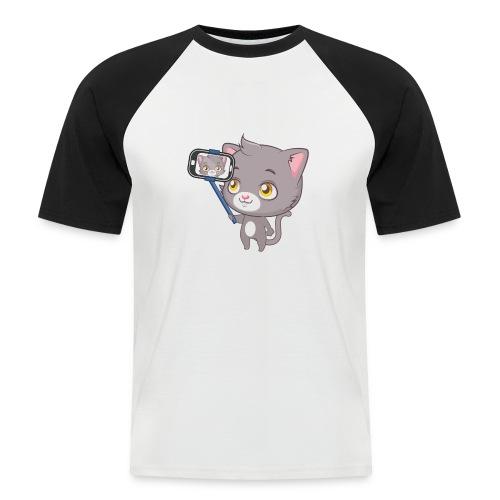 Cute cat tee - Men's Baseball T-Shirt
