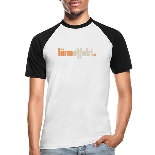 lärmeffekt Schriftzug normal - Männer Baseball-T-Shirt