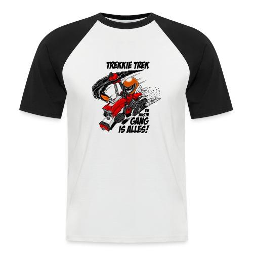 0966 trekkie trek - Mannen baseballshirt korte mouw
