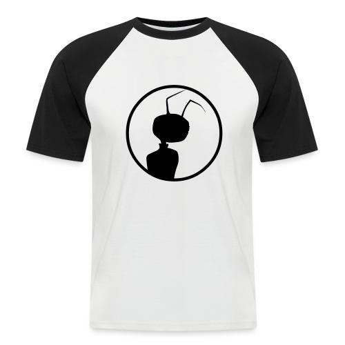 logomeise klein - Männer Baseball-T-Shirt