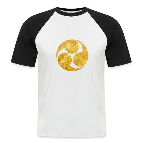 Kobayakawa Mon Japanese clan gold on black - Men's Baseball T-Shirt