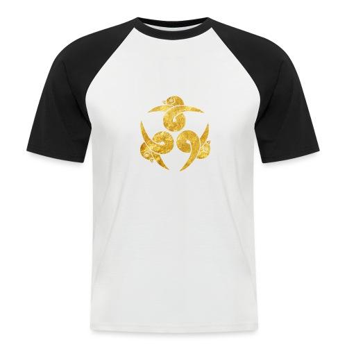 Three Geese Japanese Kamon in gold - Men's Baseball T-Shirt