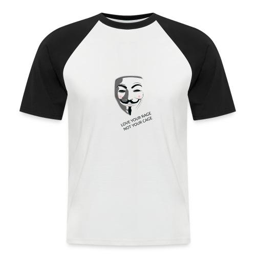 Anonymous Love Your Rage - Men's Baseball T-Shirt